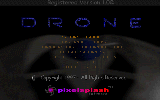 Drone DOS Title screen
