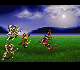 Bahamut Lagoon SNES Dragon's melee attack.