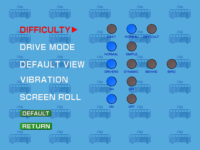 Tōkyō Bus Annai Dreamcast Gameplay settings