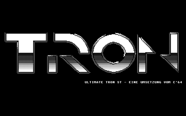 Ultimate Tron ST Atari ST Title screen