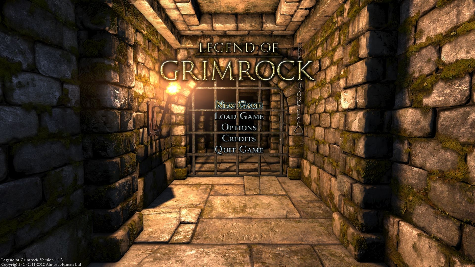 Legend of Grimrock Windows Main Menu