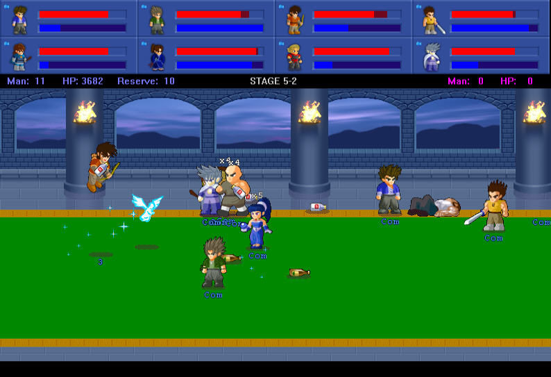 Little Fighter 2 Windows Between fighting each player can use some stuff