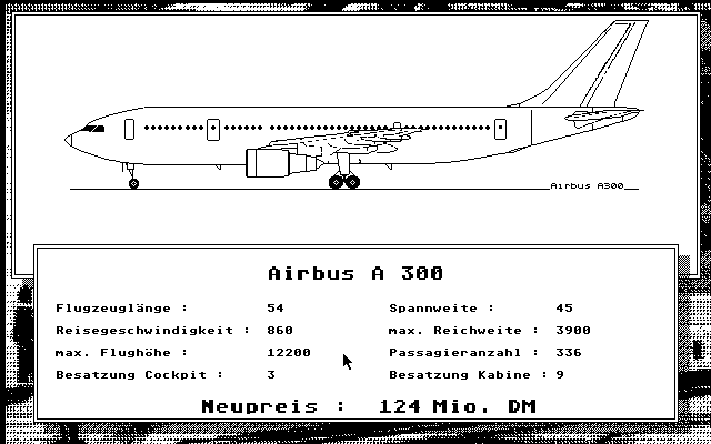 Project Airline Atari ST Buying aircrafts