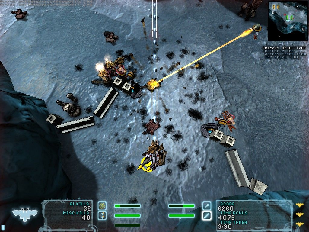 Steel Storm: Burning Retribution Windows The yellow beams won't hurt you...they will just repair enemies.