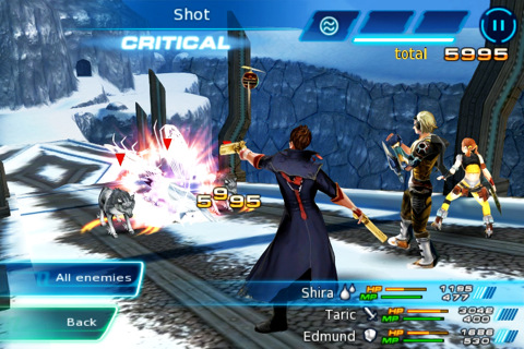 Eternal Legacy iPhone Elmund's sharp shooting in battle