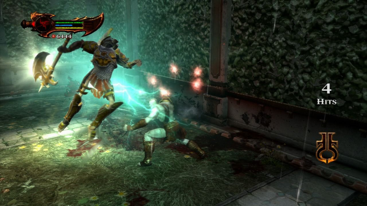 God of War III PlayStation 3 Lightning strike can easily throw away simple grunts.
