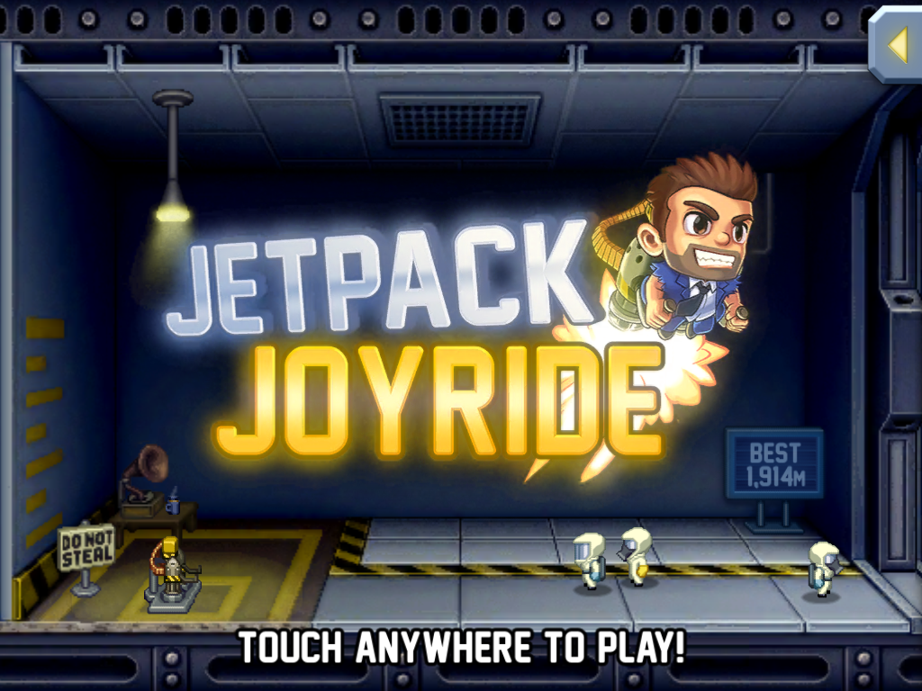 Jetpack Joyride iPad Title screen