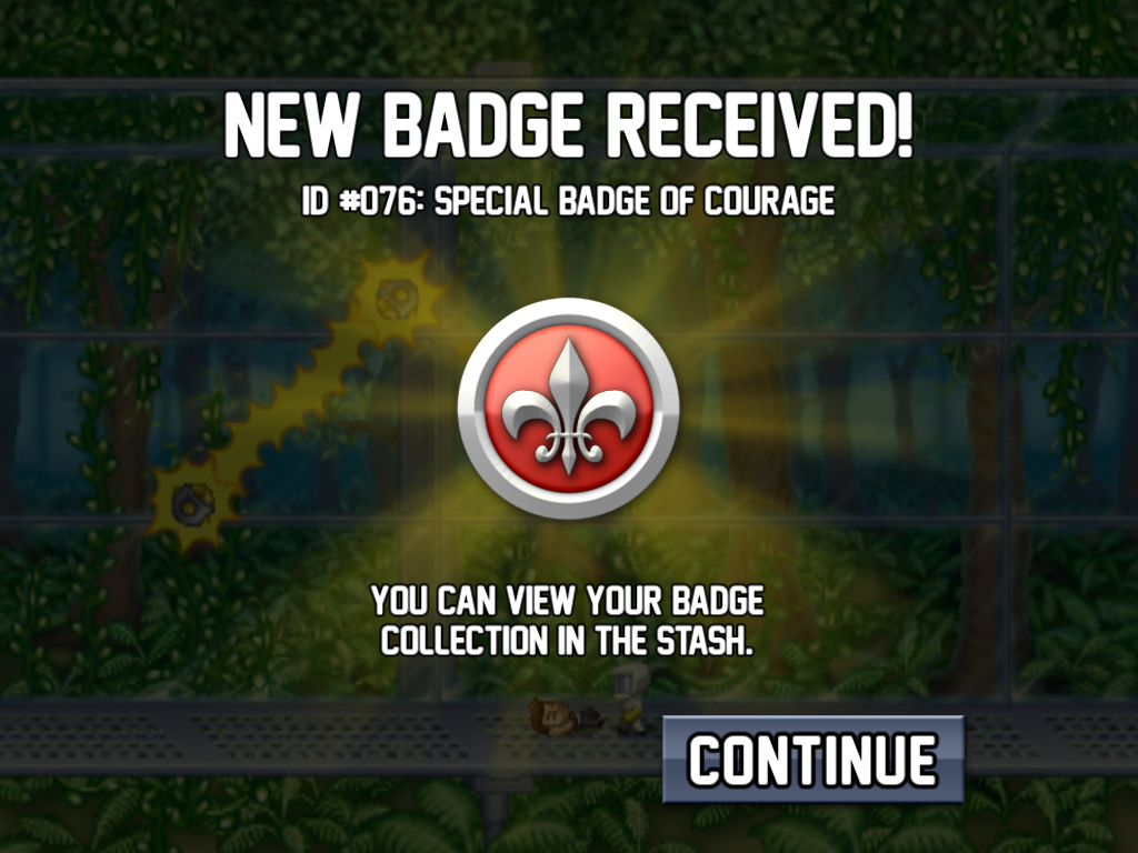 Jetpack Joyride iPad New badge! Now what?..