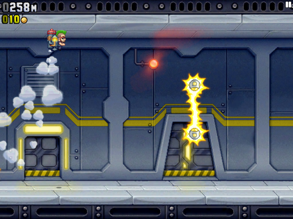Jetpack Joyride iPad Barry has a new jetpack and a punk haircut
