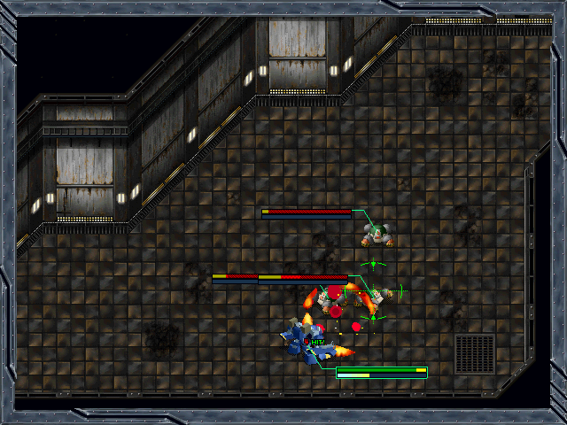 Baldrhead: Busō Kinyū Gaiden Windows Dungeon exploration. Battle inside. using close-range weapon