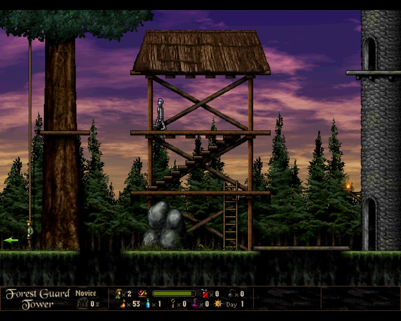 Return to Dark Castle Macintosh Forest Guard Tower level