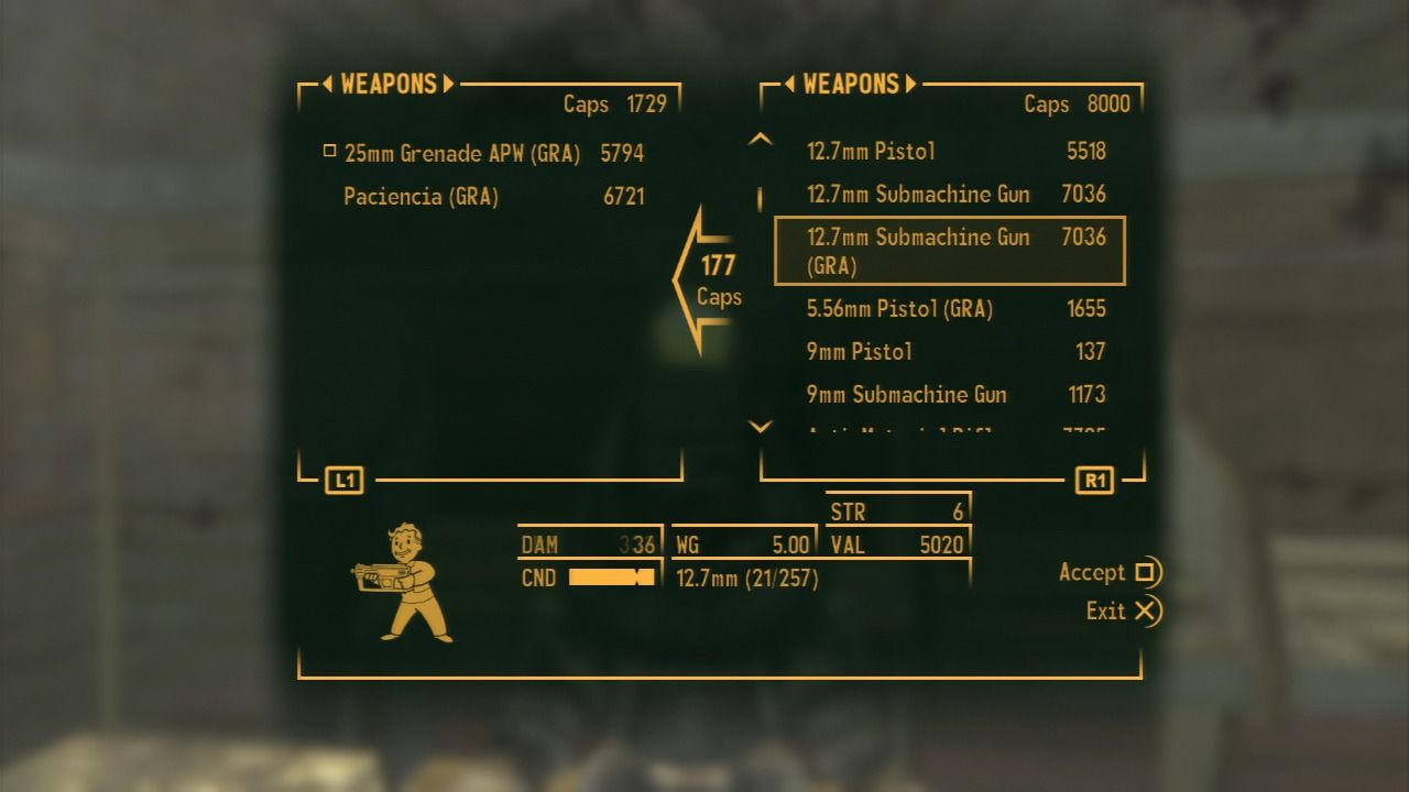 Fallout: New Vegas - Gun Runners' Arsenal PlayStation 3 You can find most of the new weapons and ammo at Gun Runners' store.