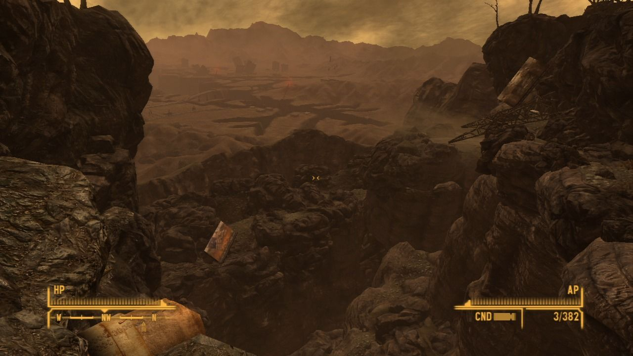 Fallout: New Vegas - Lonesome Road PlayStation 3 It's a long way down, better watch where you thread.