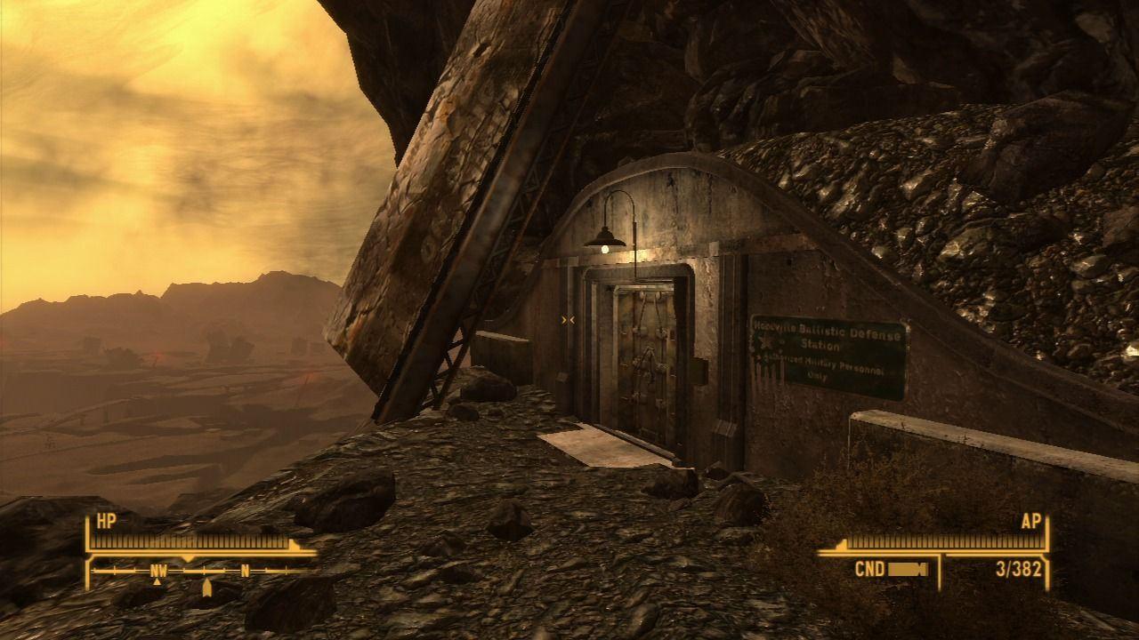 Fallout: New Vegas - Lonesome Road PlayStation 3 Approaching the pre-war missile silo.