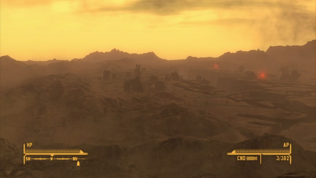 Fallout: New Vegas - Lonesome Road PlayStation 3 View of The Divide... beware, it is anything but desolate place to explore.