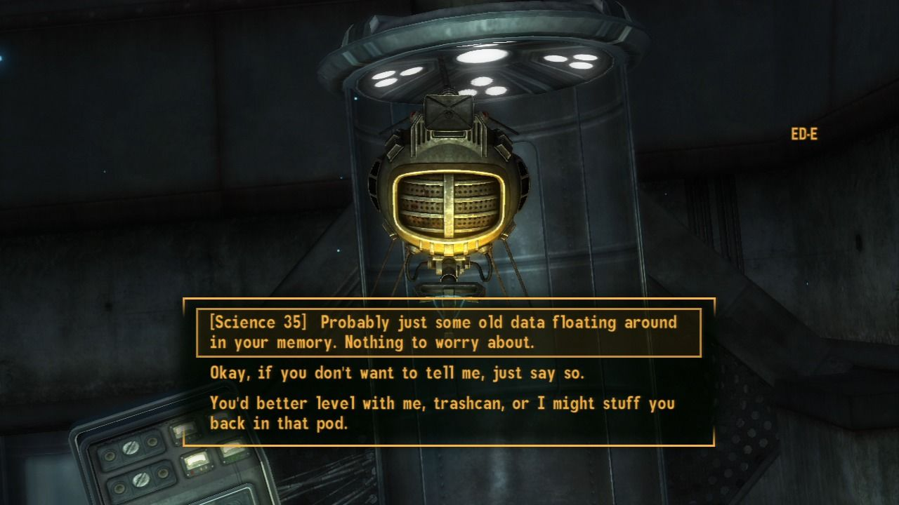 Fallout: New Vegas - Lonesome Road PlayStation 3 It is advised to have some serious science knowledge prior to starting this mission, it'll come in very handy.