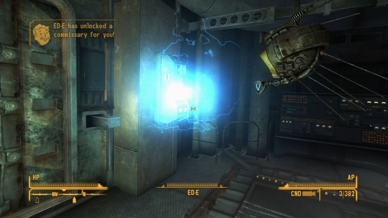 Fallout: New Vegas - Lonesome Road PlayStation 3 ED-E can unlock various commissaries throughout The Divide.
