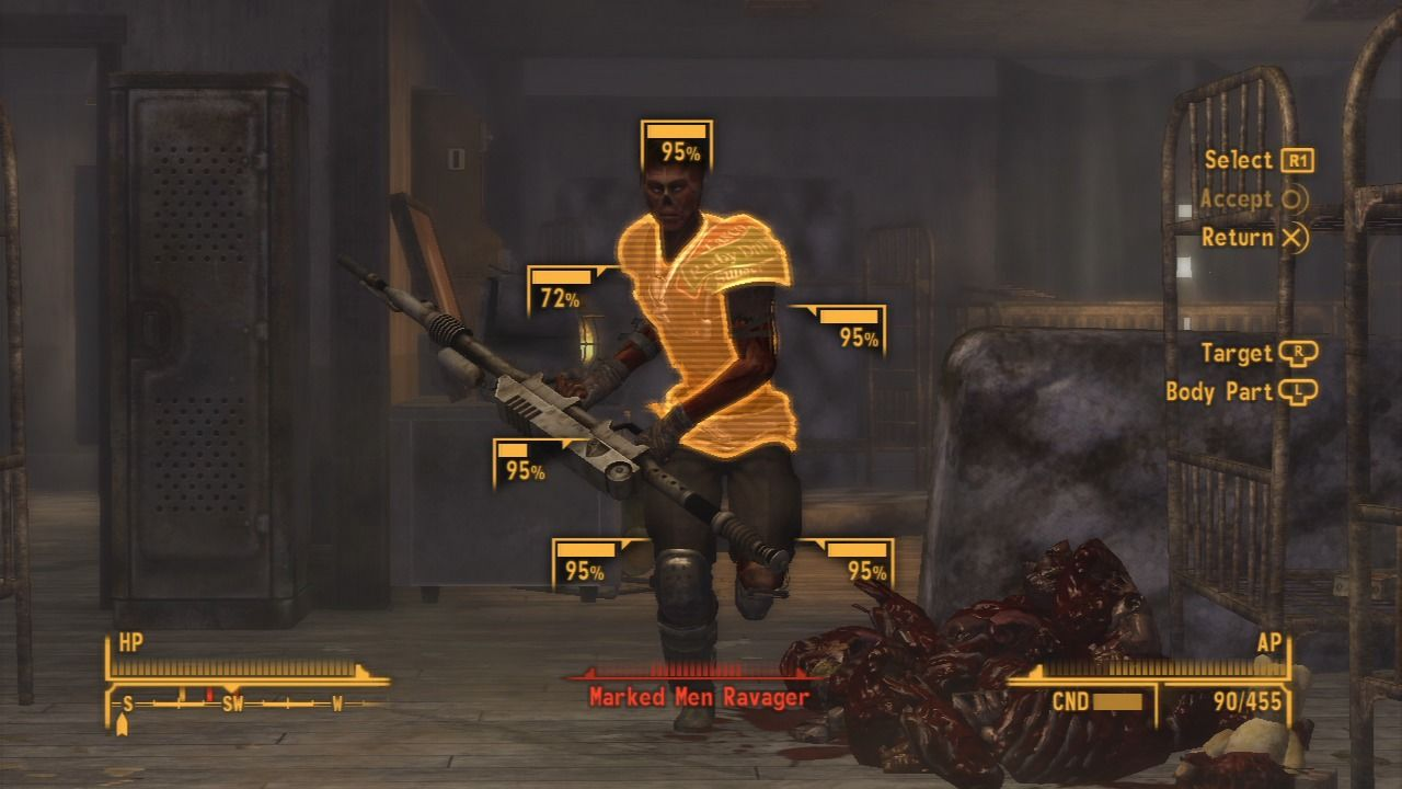 Fallout: New Vegas - Lonesome Road PlayStation 3 Activate V.A.T.S. mode when outnumbered by the enemy combatants.