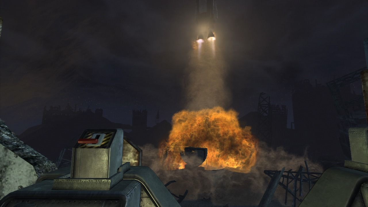 Fallout: New Vegas - Lonesome Road PlayStation 3 Inadvertently firing the nuclear missile.