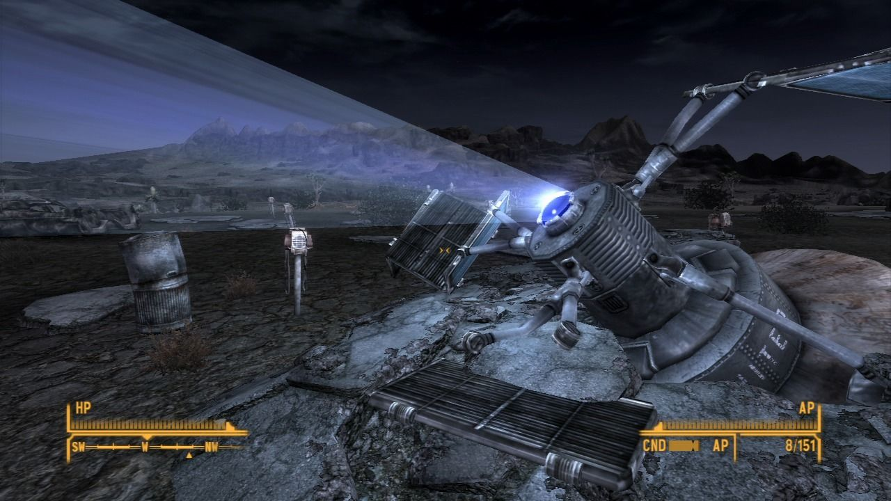 Fallout: New Vegas - Old World Blues PlayStation 3 Satellite has started showing some movie, and you can enter the Big Empty.