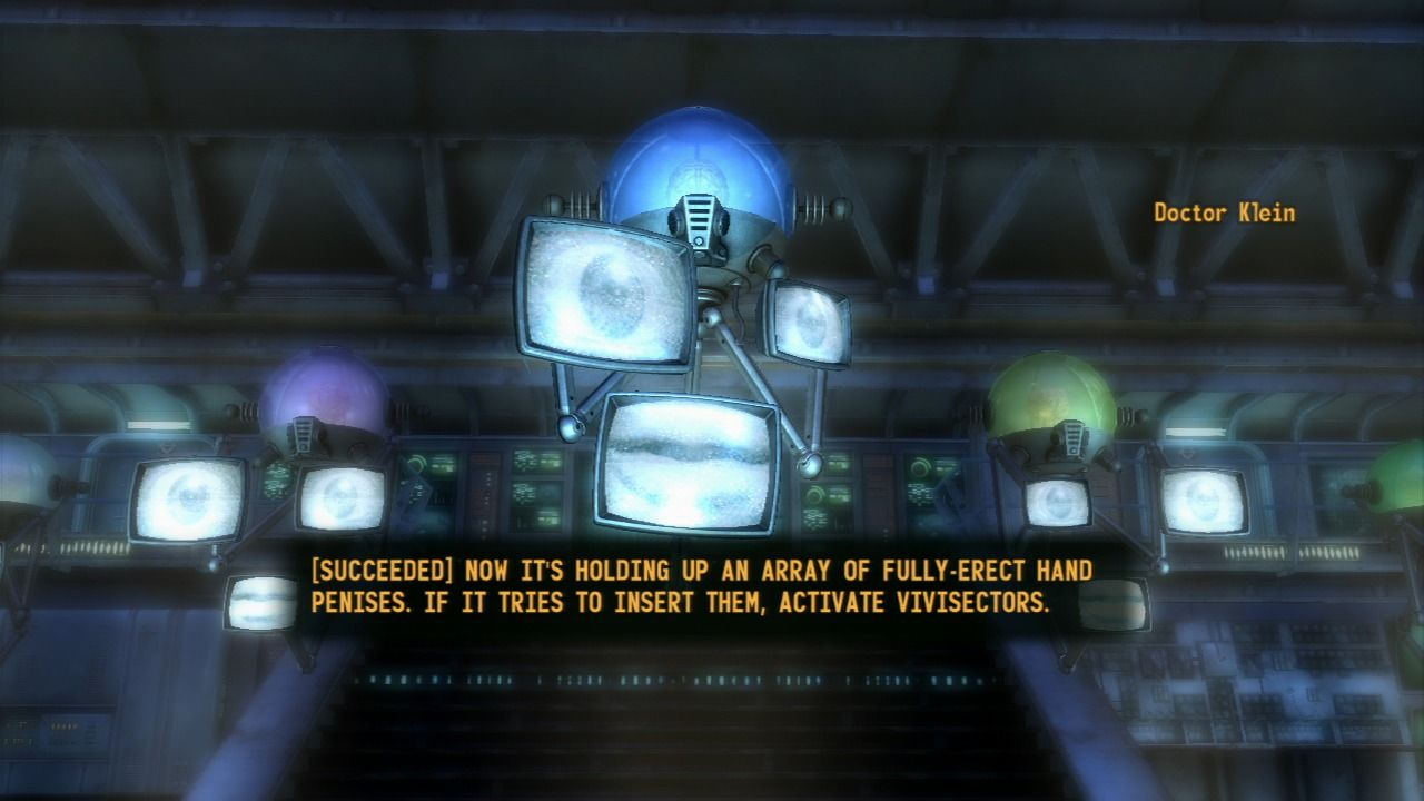 Fallout: New Vegas - Old World Blues PlayStation 3 Meeting the Think Tank which are known for their ludicrous dialogs.