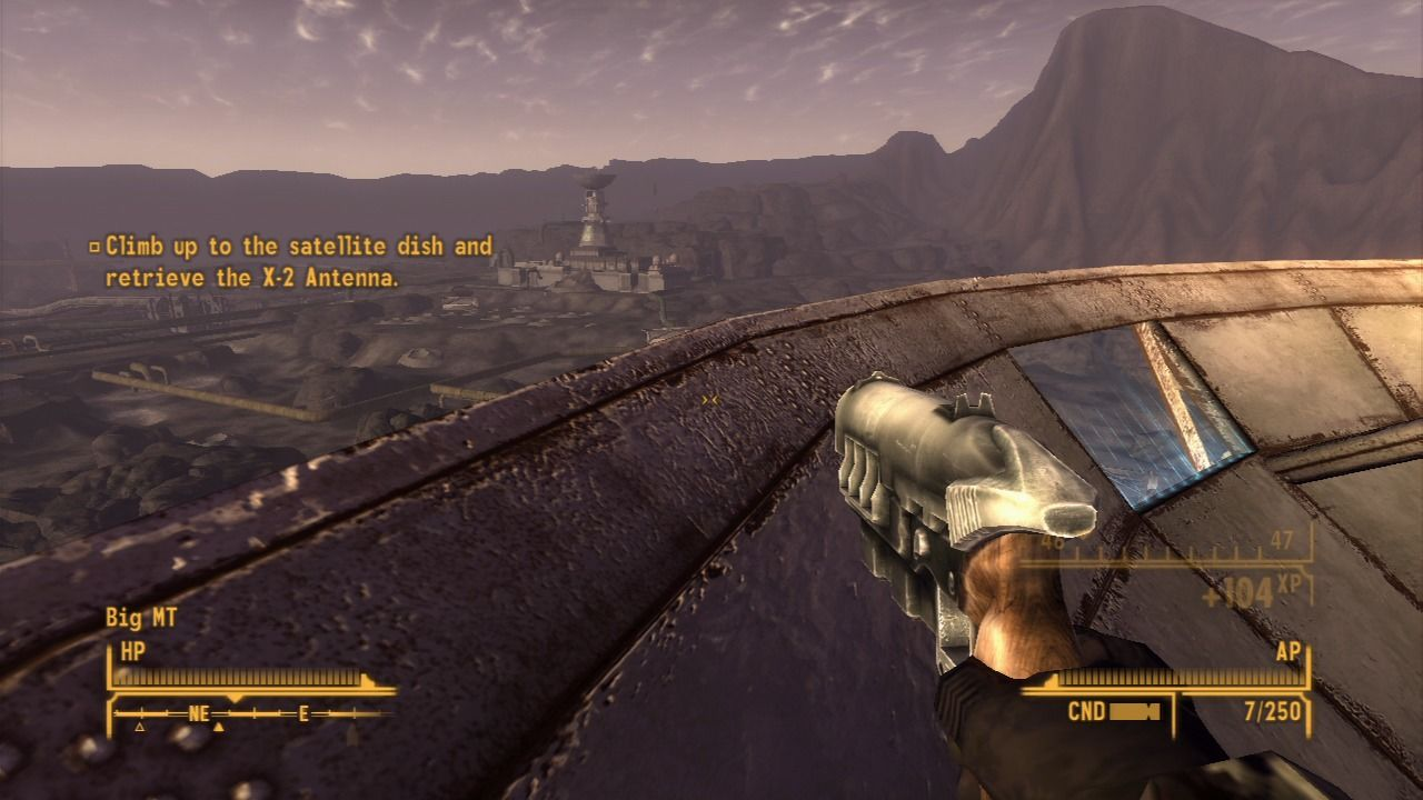 Fallout: New Vegas - Old World Blues PlayStation 3 Retrieving the antenna.