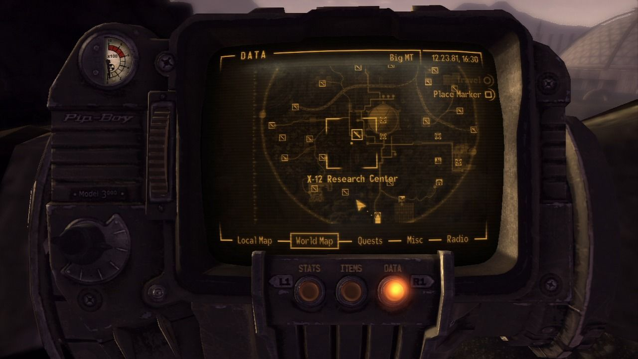 Fallout: New Vegas - Old World Blues PlayStation 3 The map of Big Empty.