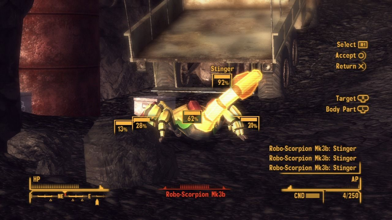 Fallout: New Vegas - Old World Blues PlayStation 3 Robo-scorpions can be harder to deal with if they're bigger.