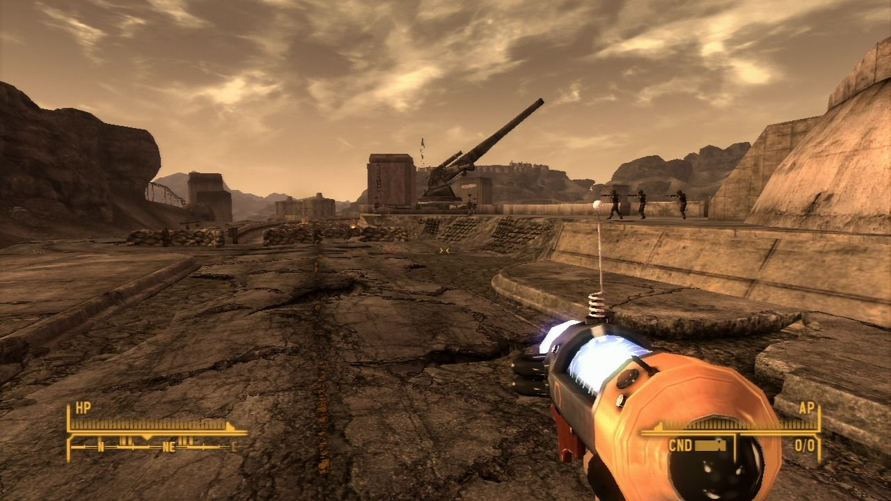 Fallout: New Vegas - Old World Blues PlayStation 3 When you're back in Mojave, you can always use Big Mountain Transportalponder to return to the Big Empty after finishing that mission.