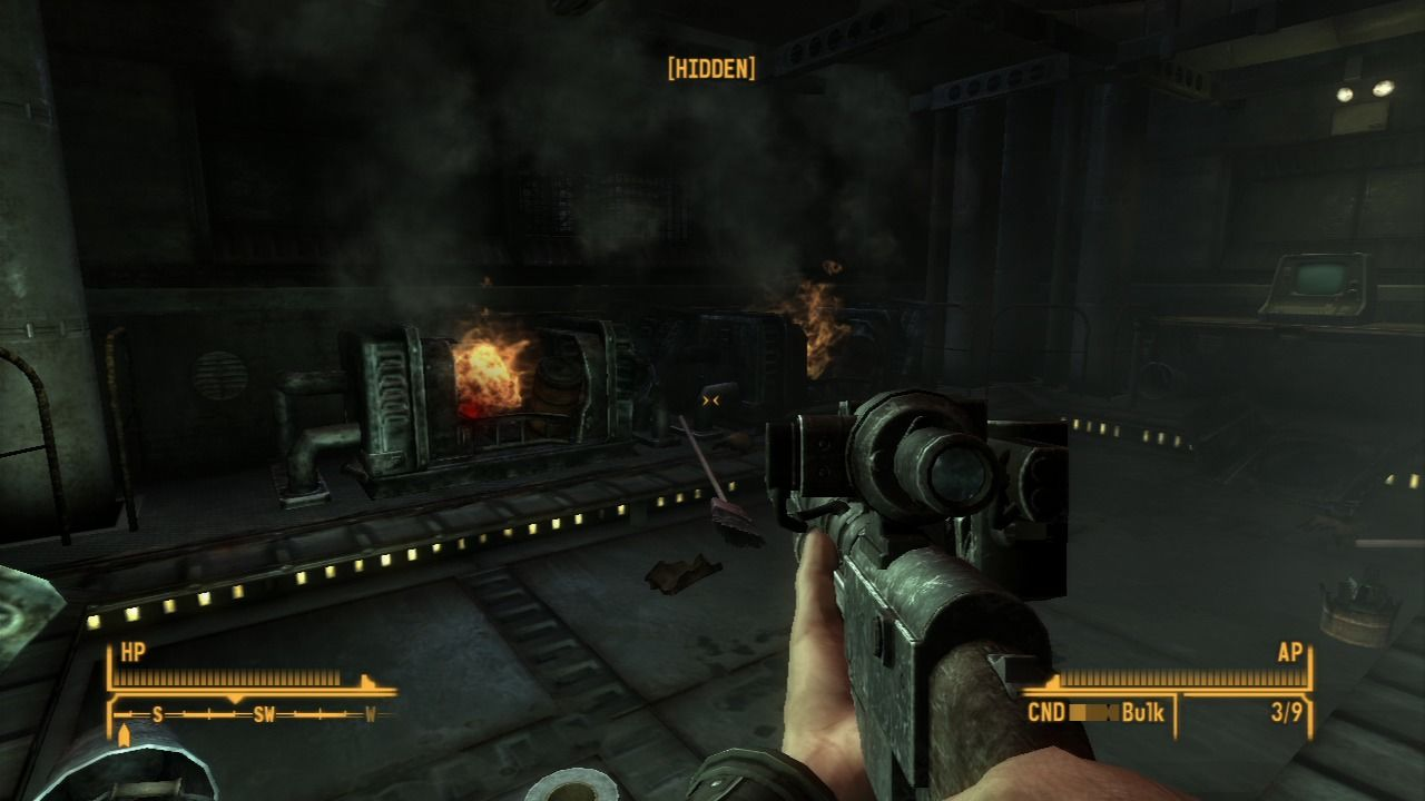 Fallout: New Vegas - Dead Money PlayStation 3 This is an effective way of shutting down the power to those deadly speakers.