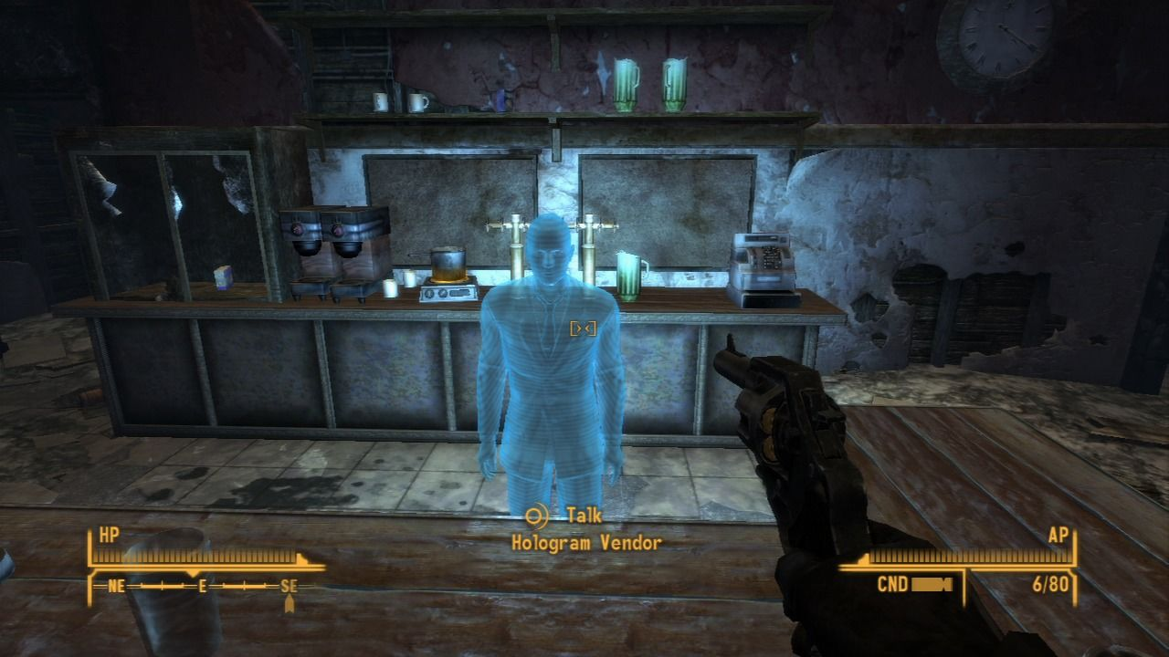 Fallout: New Vegas - Dead Money PlayStation 3 Occasional holograms will perform roles of a vendor so you can trade items.