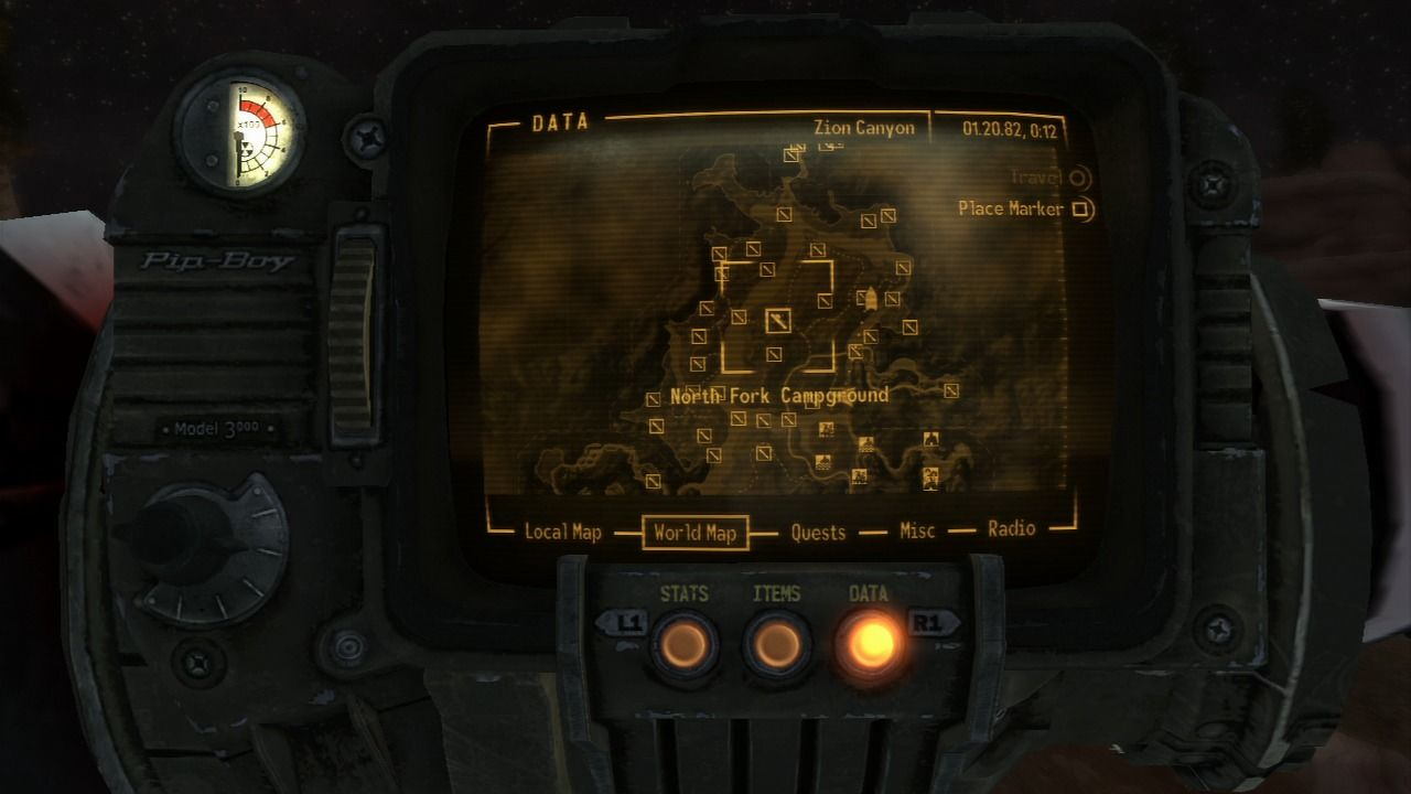 Fallout Las Vegas Map.Fallout New Vegas Honest Hearts Screenshots For Playstation 3
