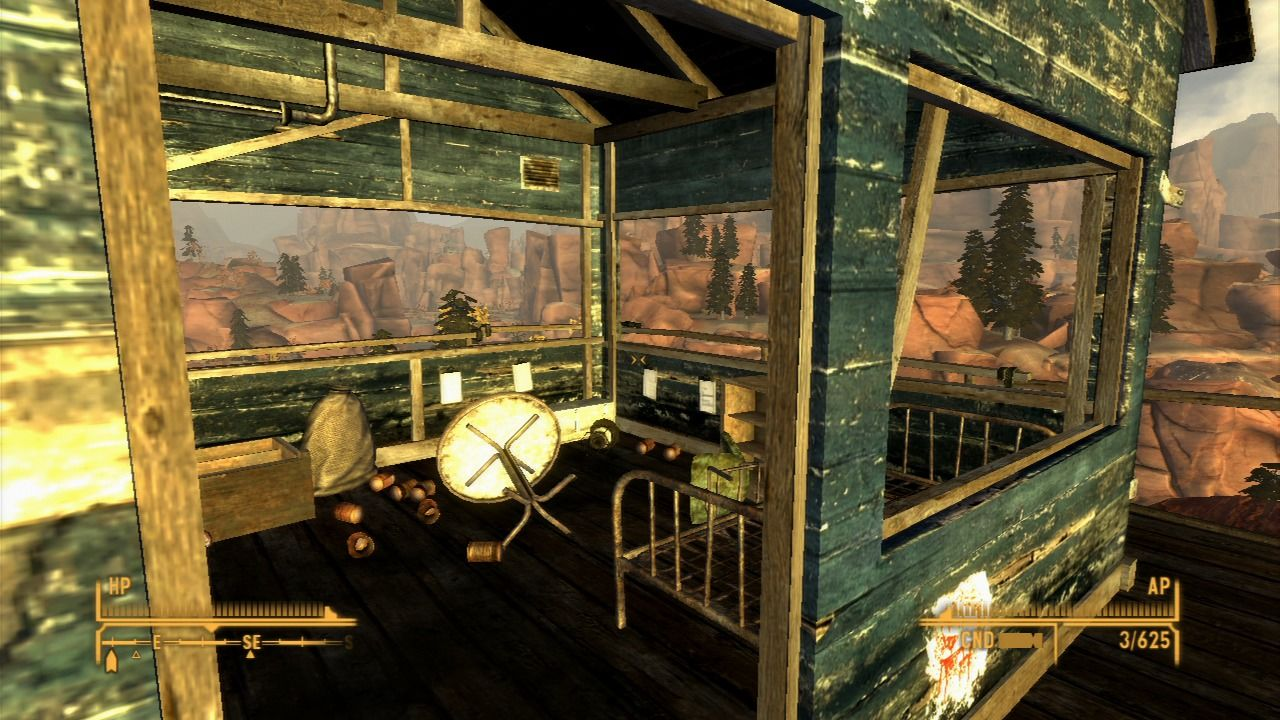 Fallout: New Vegas - Honest Hearts PlayStation 3 An old deserted outpost... perfect place for scavenging.
