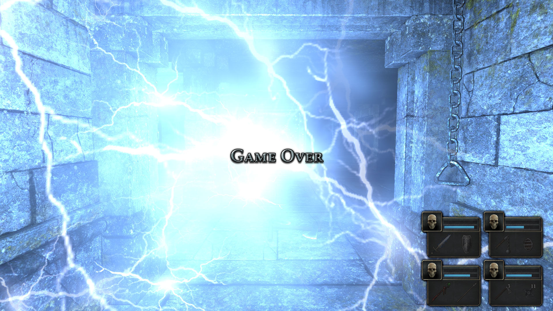 Legend of Grimrock Windows Death by electric spell