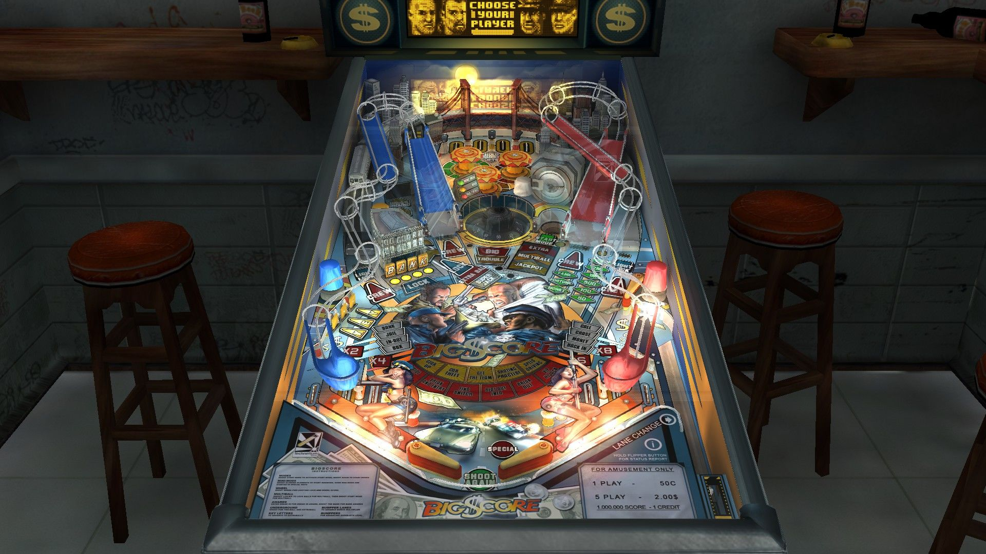 SlamIt Pinball: Big Score Windows The game starts by choosing a character: you'll either be a thief or a cop.