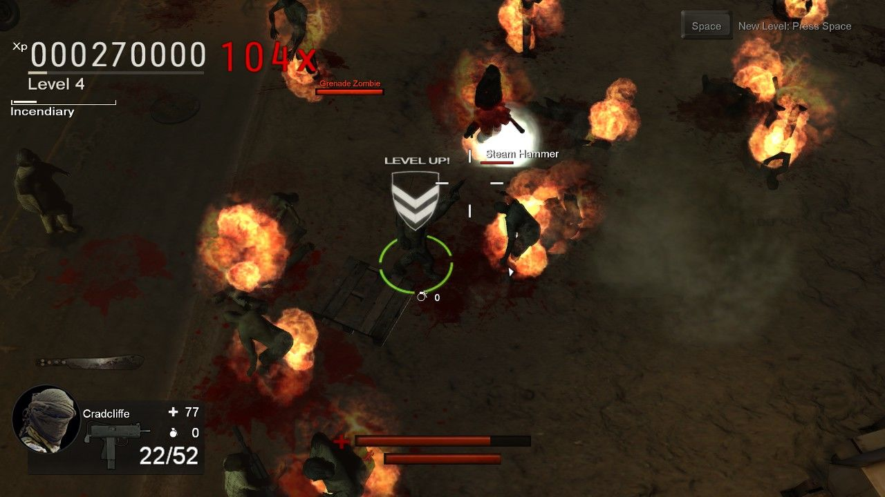 Nation Red Windows Load up some incendiary rounds and start your own zombie bonfire!