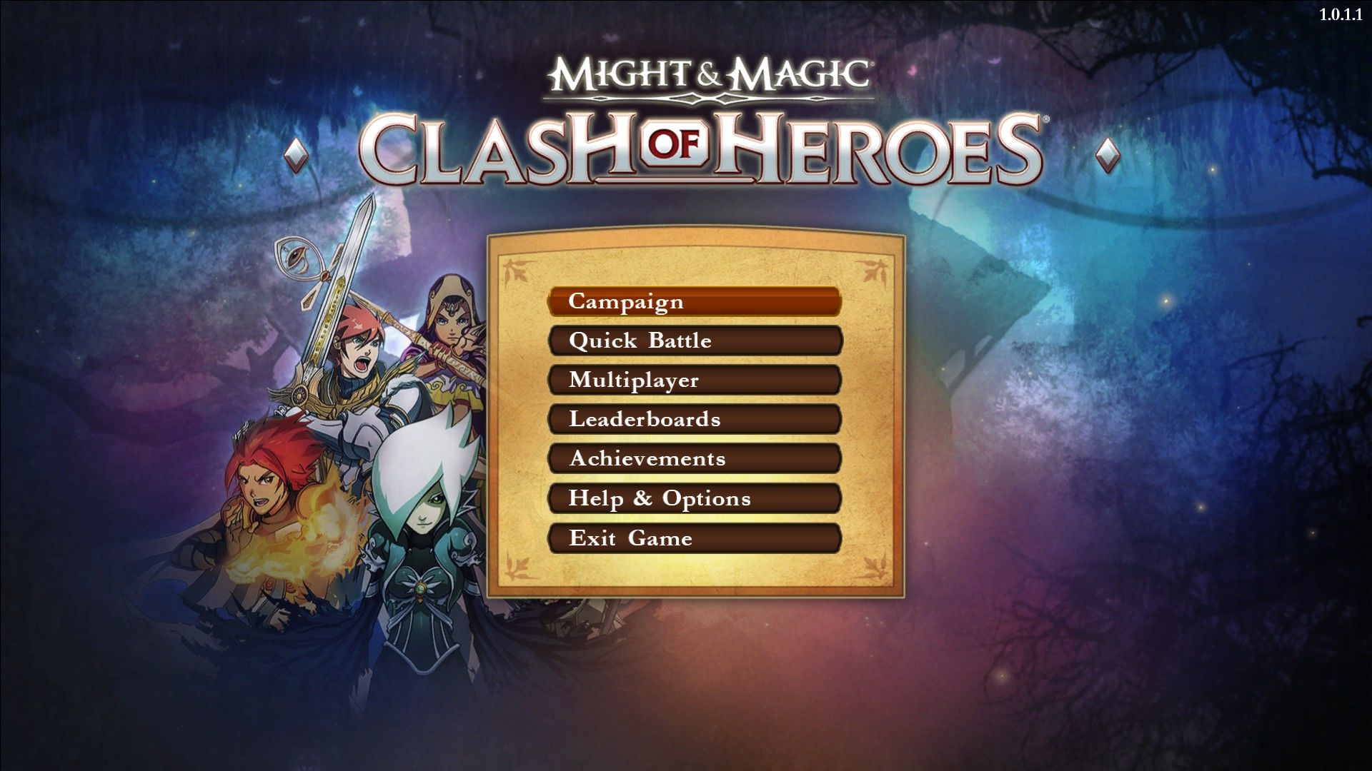 Might & Magic: Clash of Heroes Windows Main Menu