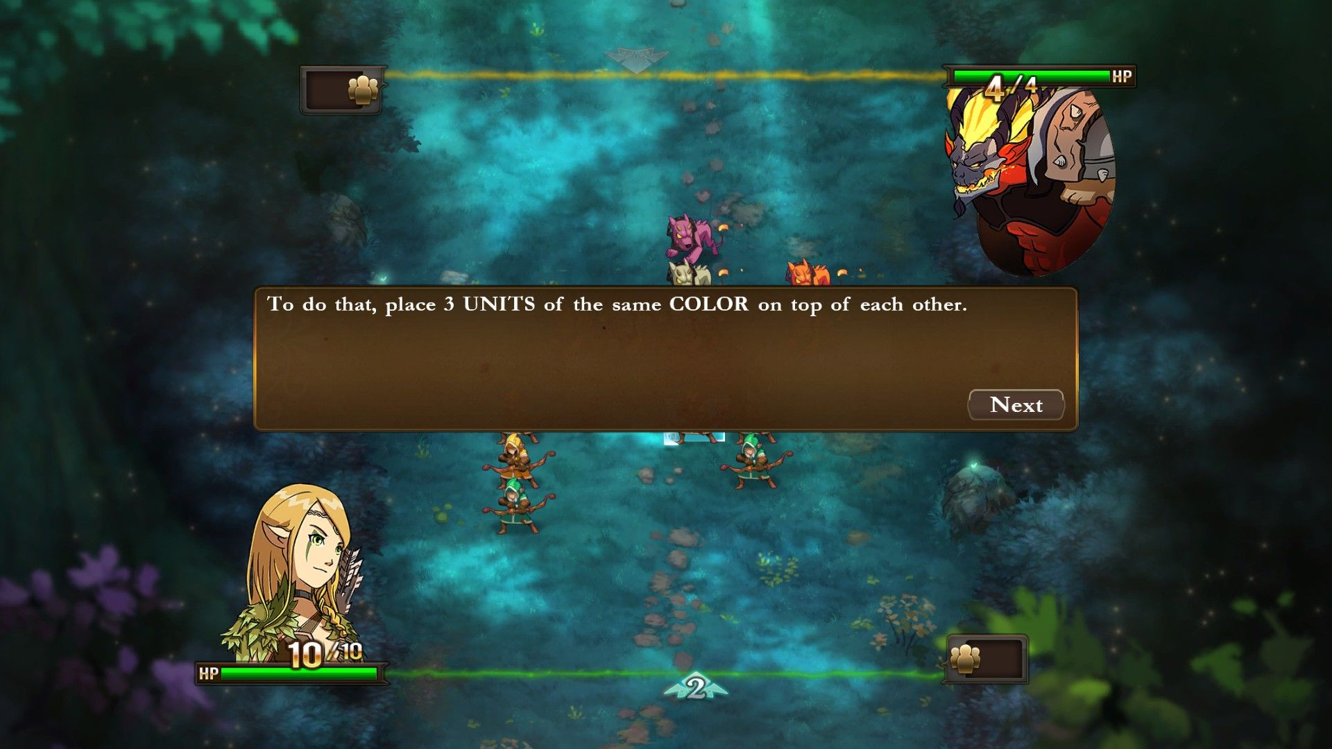 Might & Magic: Clash of Heroes Windows The tutorial teaches you the basics of the combat system