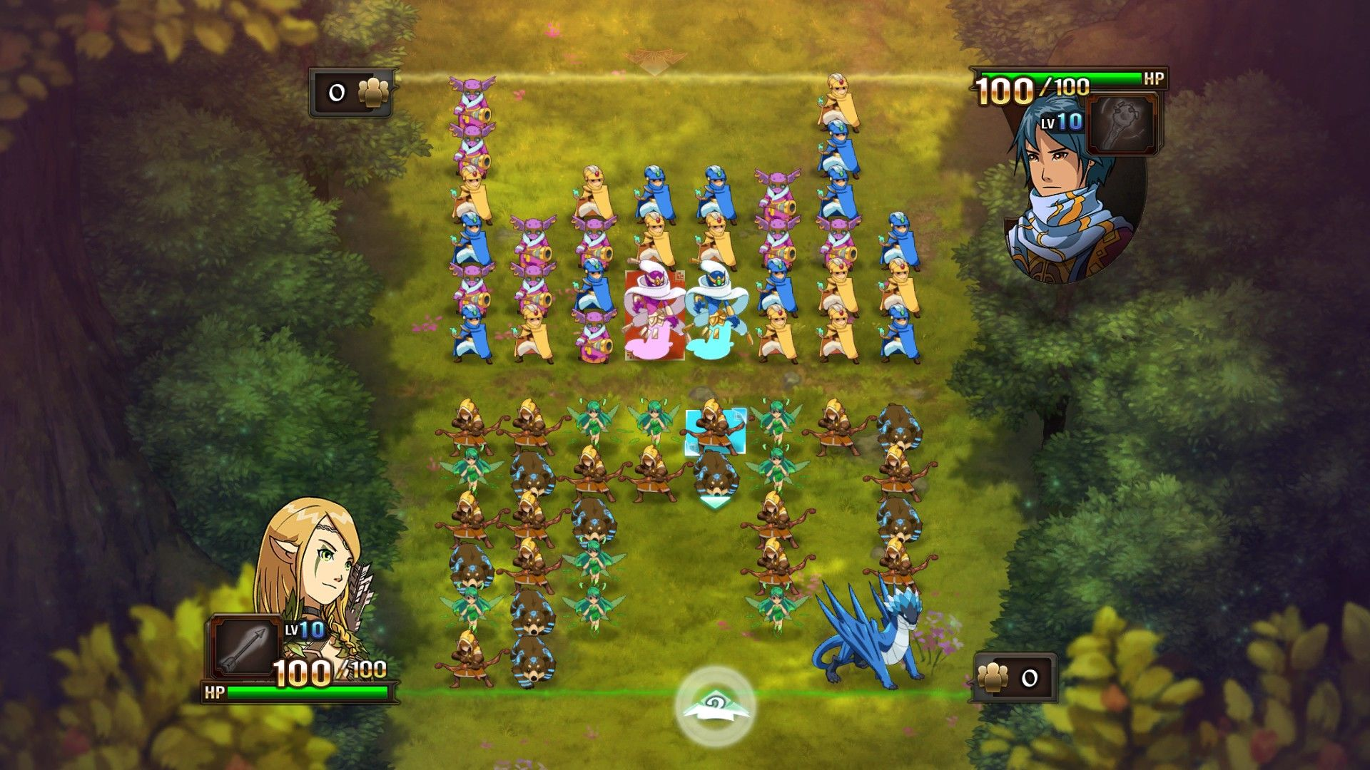 Might & Magic: Clash of Heroes Windows The battle begins, Anwen versus Cyrus the Wizard