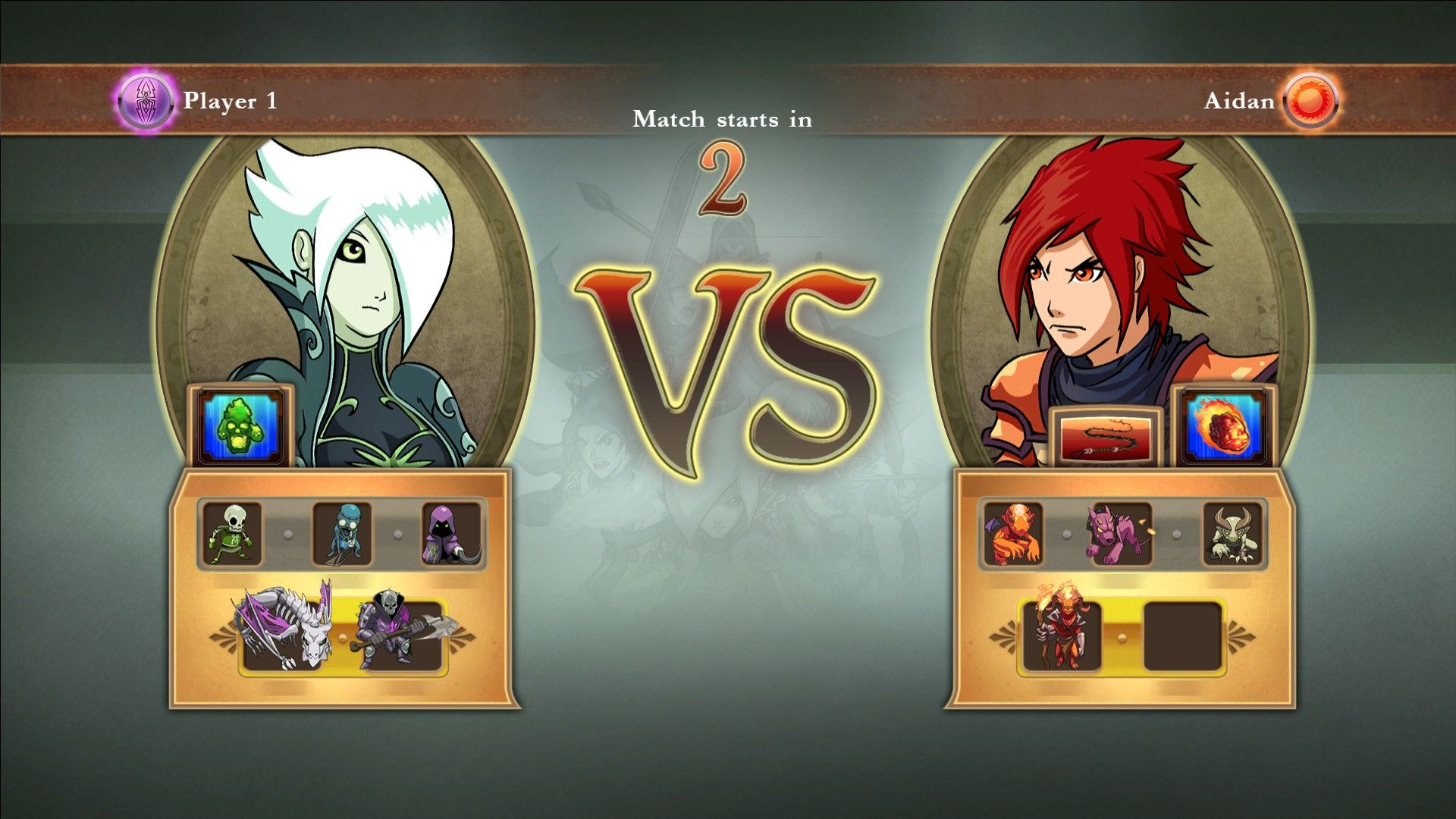 Might & Magic: Clash of Heroes Windows Another battle: Fiona versus Aidan