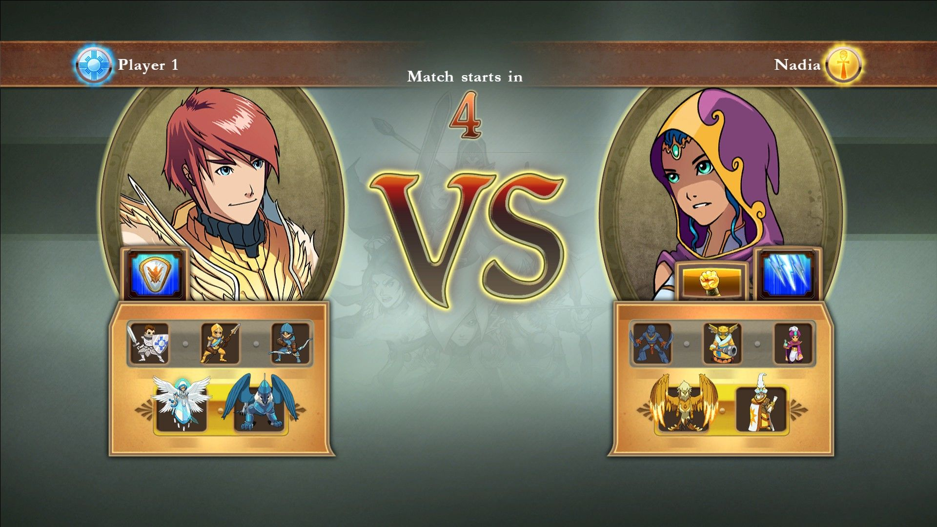 Might & Magic: Clash of Heroes Windows Godric the Knight versus Nadia the Wizard