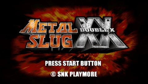 Metal Slug XX PSP Title screen
