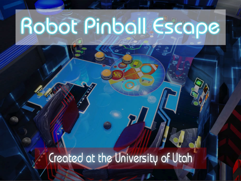 Robot Pinball Escape Windows Title screen
