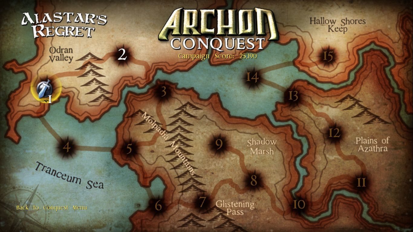 Archon Classic Windows One of the campaign maps.