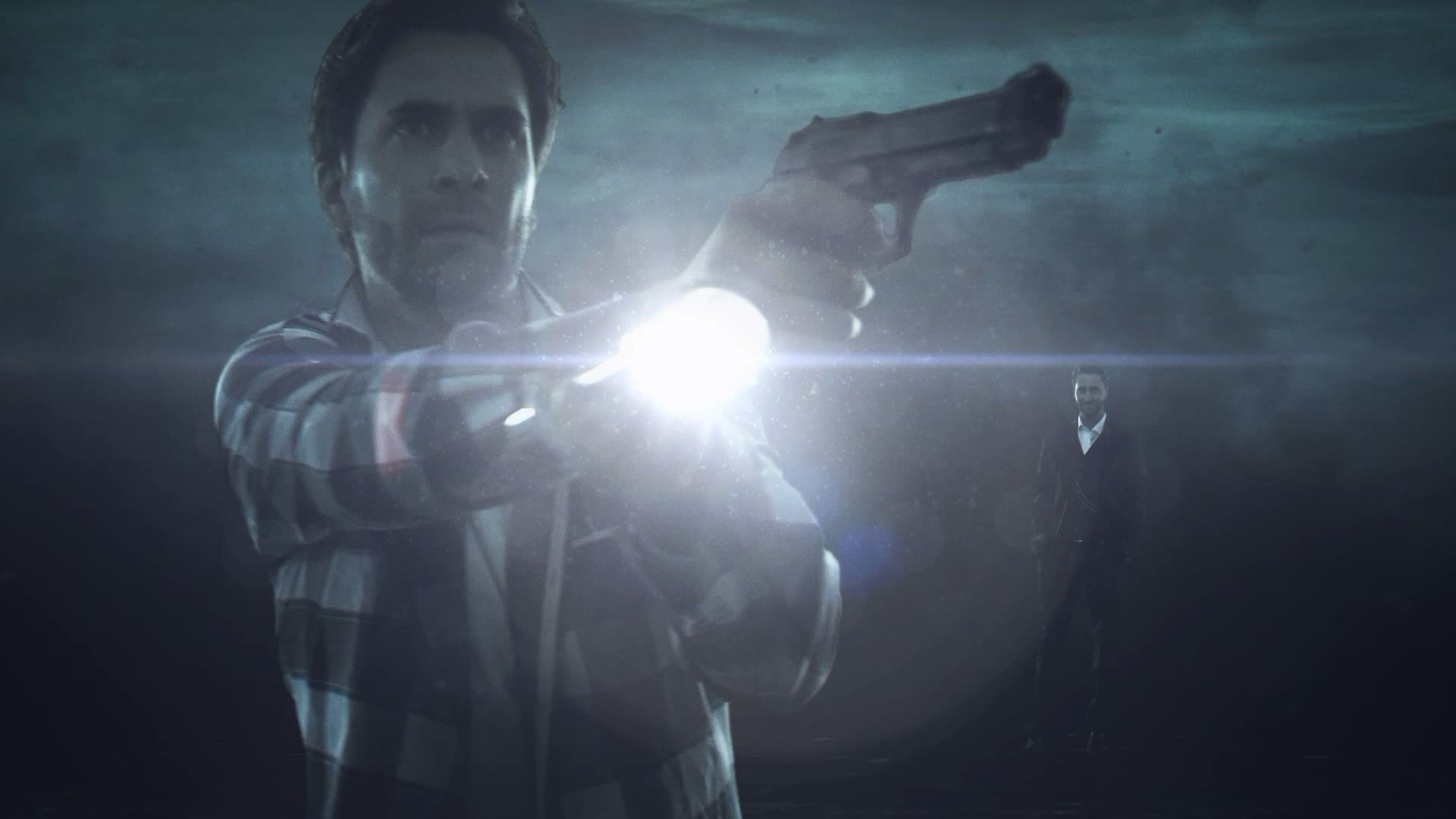 Alan Wake's American Nightmare Windows Alan Wake and Mr. Scratch in opening cinematic.