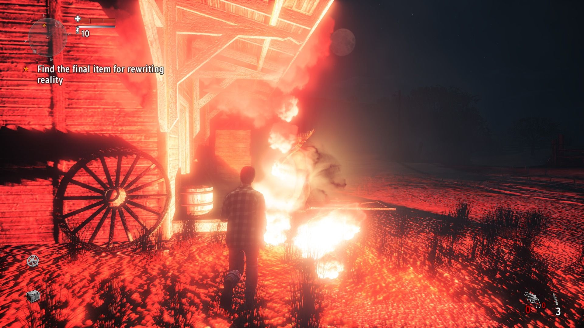 Alan Wake's American Nightmare Windows Encountering new type of enemy that splits in two when exposed to light... use only weapons to deal with such foes.