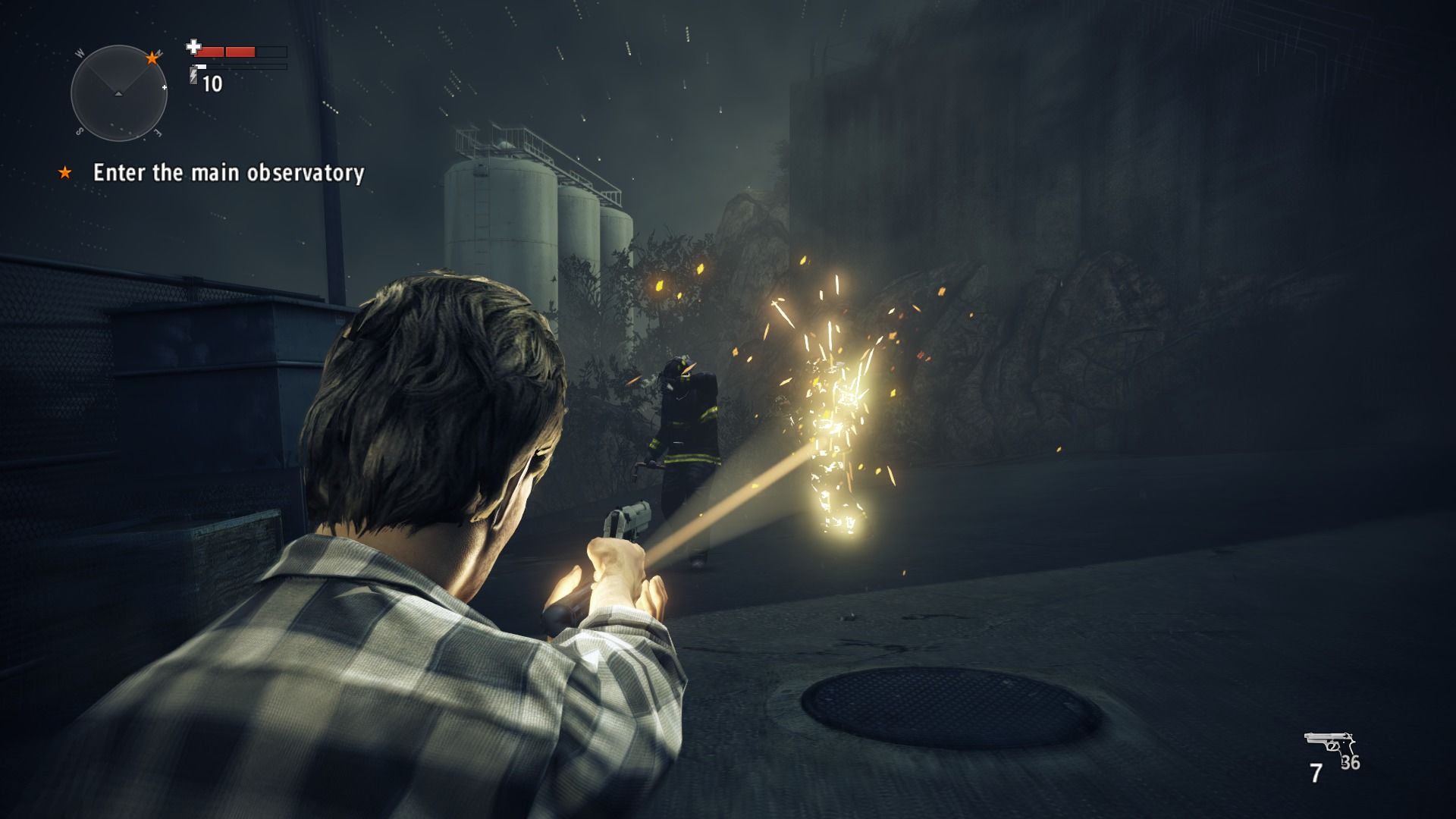 Alan Wake's American Nightmare Windows Firemen do not like your presence here.