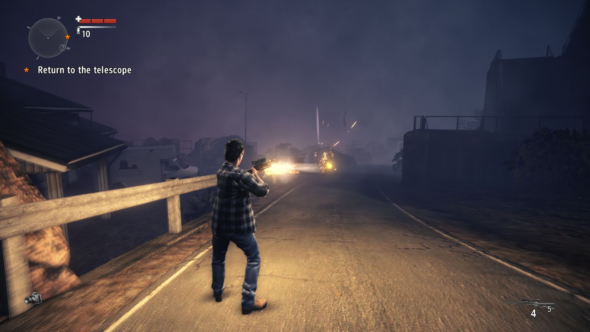 Alan Wake's American Nightmare Windows Hunting rifle may not hold many bullets, but is deadly at greater distance.