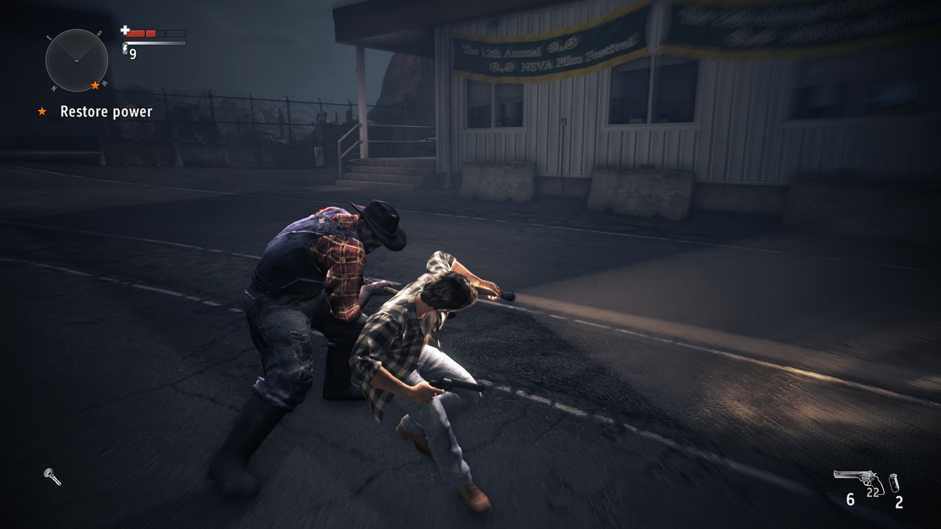 Alan Wake's American Nightmare Windows Tougher enemies take time, so if they come too close, evade at the moment they swing at you.