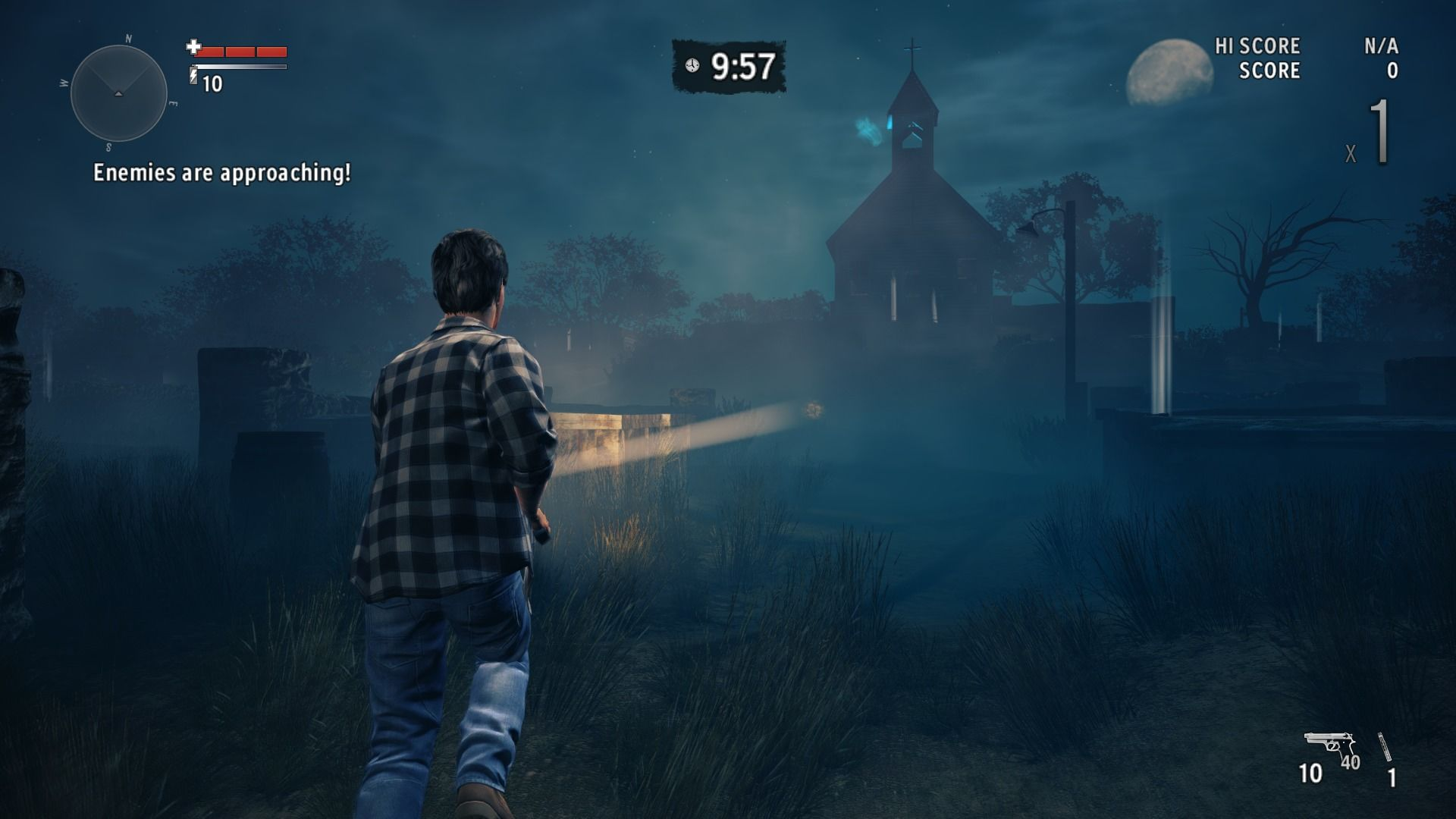 Alan Wake's American Nightmare Windows In arcade mode, waves of enemies will keep on coming until the time runs out an it dawns.